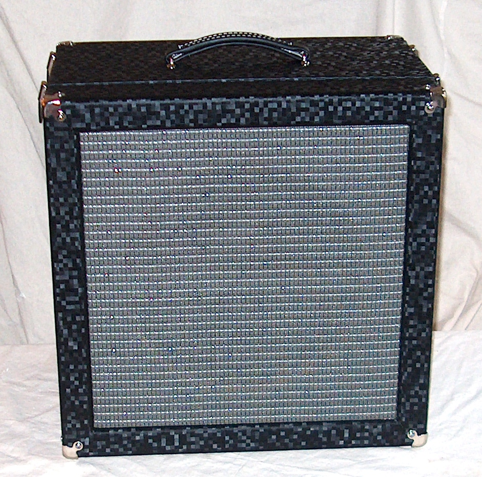 EXAMPLE OF CABINET WITH RANDOM BLACK CHECK VINYL