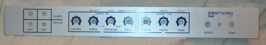 SVT Blue Faceplate