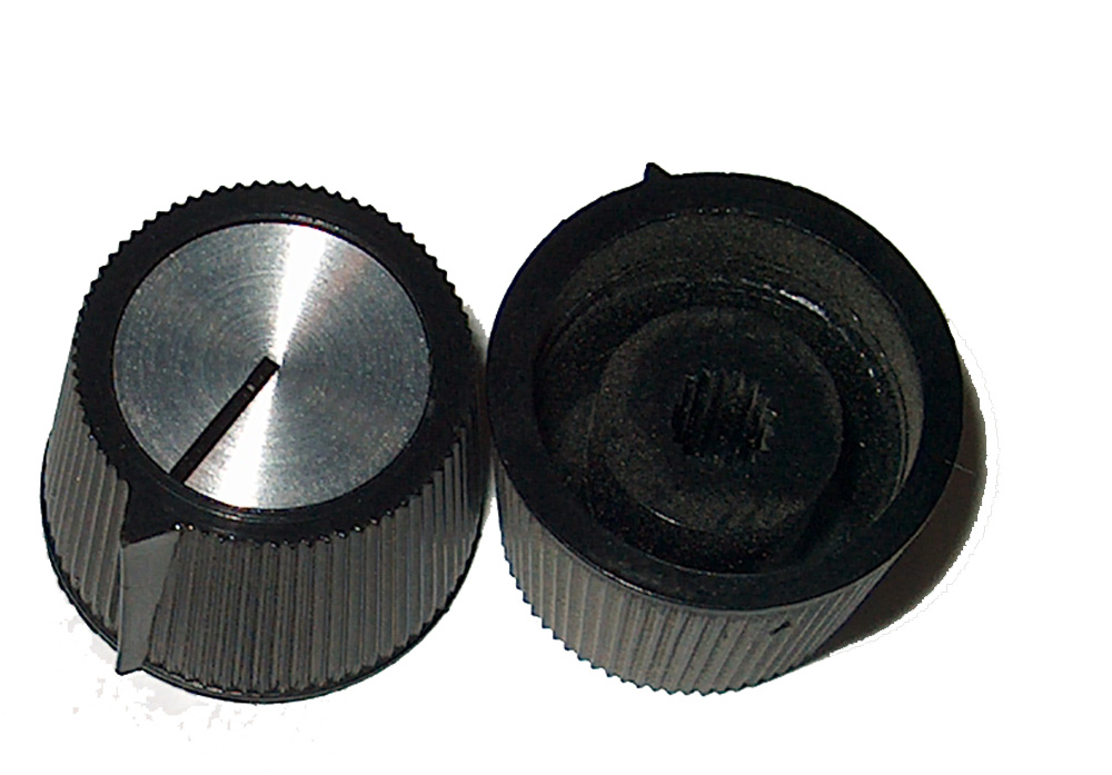 AV KNOB FOR KNURLED SHAFT POTS