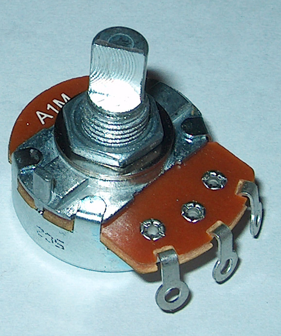 1M Log D-shaft Potentiometer