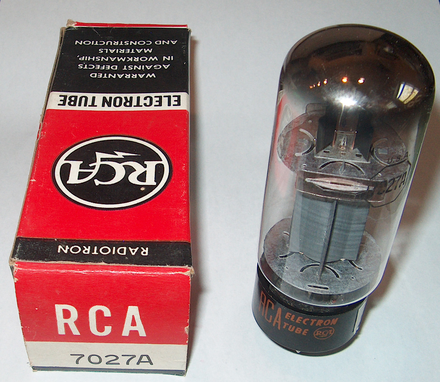 RCA 7027A TALL BOTTLE NOS USA